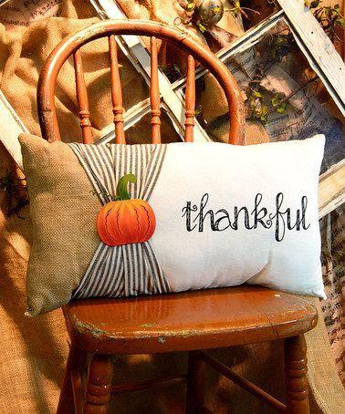 thankful pillow decoration
