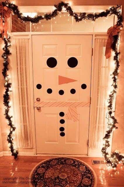 snowman diy door decoration