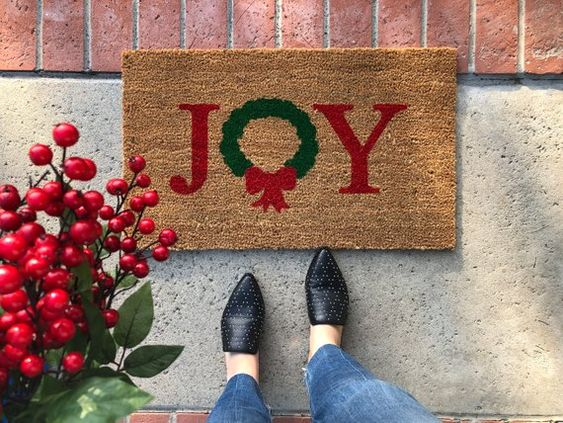 christmas doormat decorate your brand new home